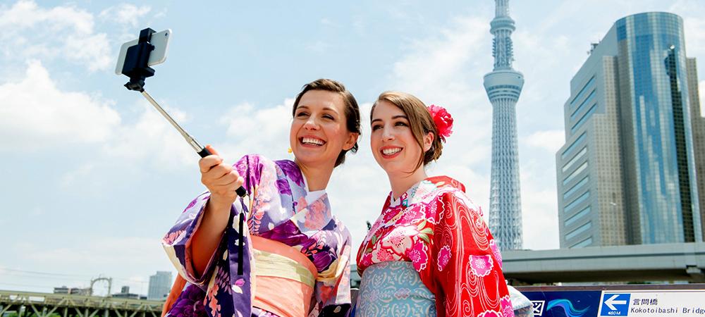 Find Tokyo / travel japan by Kimono